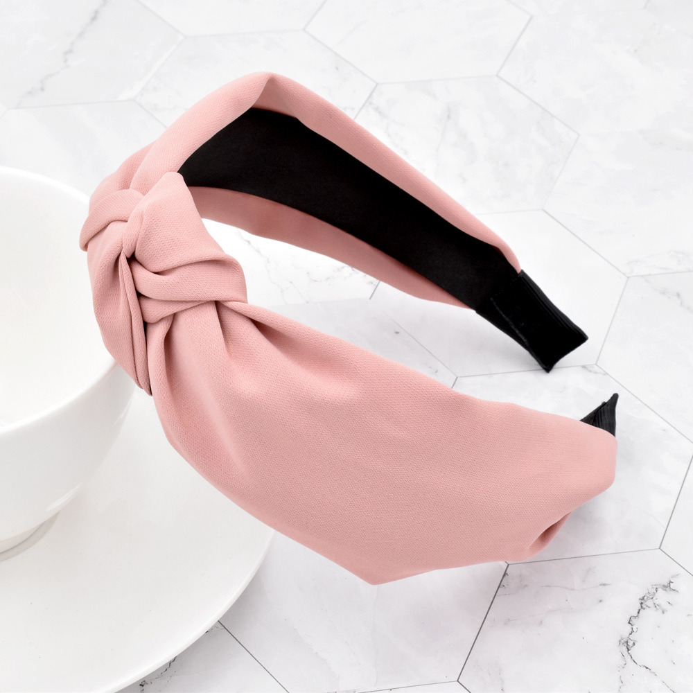 Fashion Solid Color Knotted Headband Wholesale NHCL330900
