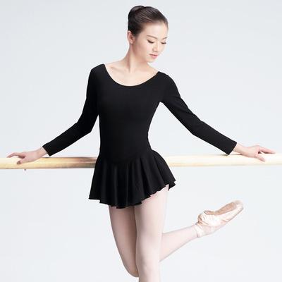 Ballet dance costume female adult practice clothes short sleeve one-piece yoga clothes Body gym suit