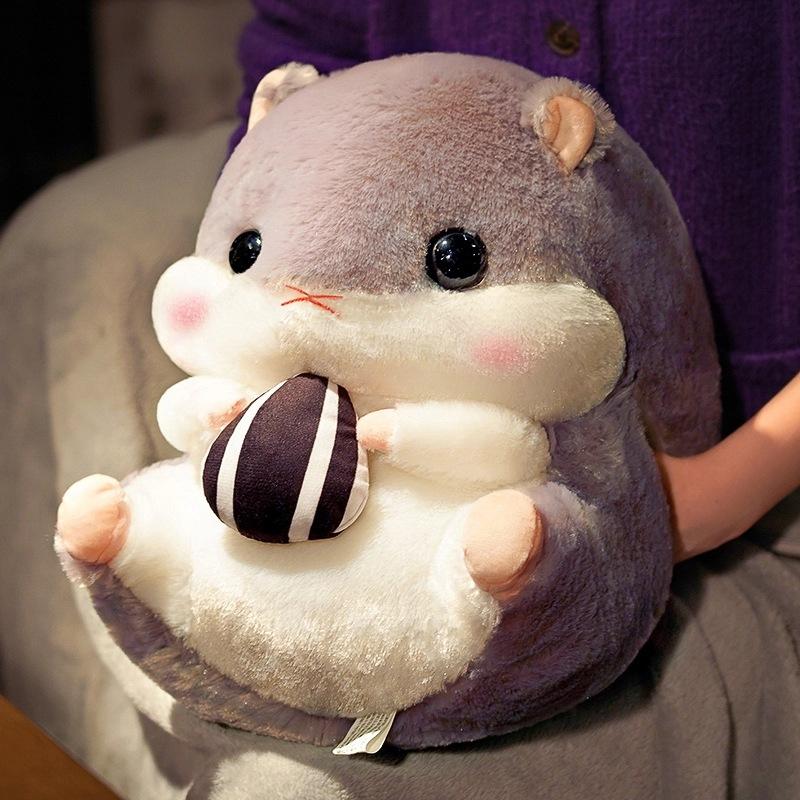 仓鼠龙猫公仔毛绒玩具男生款抱枕女生睡觉布娃娃可爱玩偶生日礼物