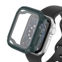 全包壳膜一体适用苹果手表保护套 iwatch炭纤维纹TPU软表壳