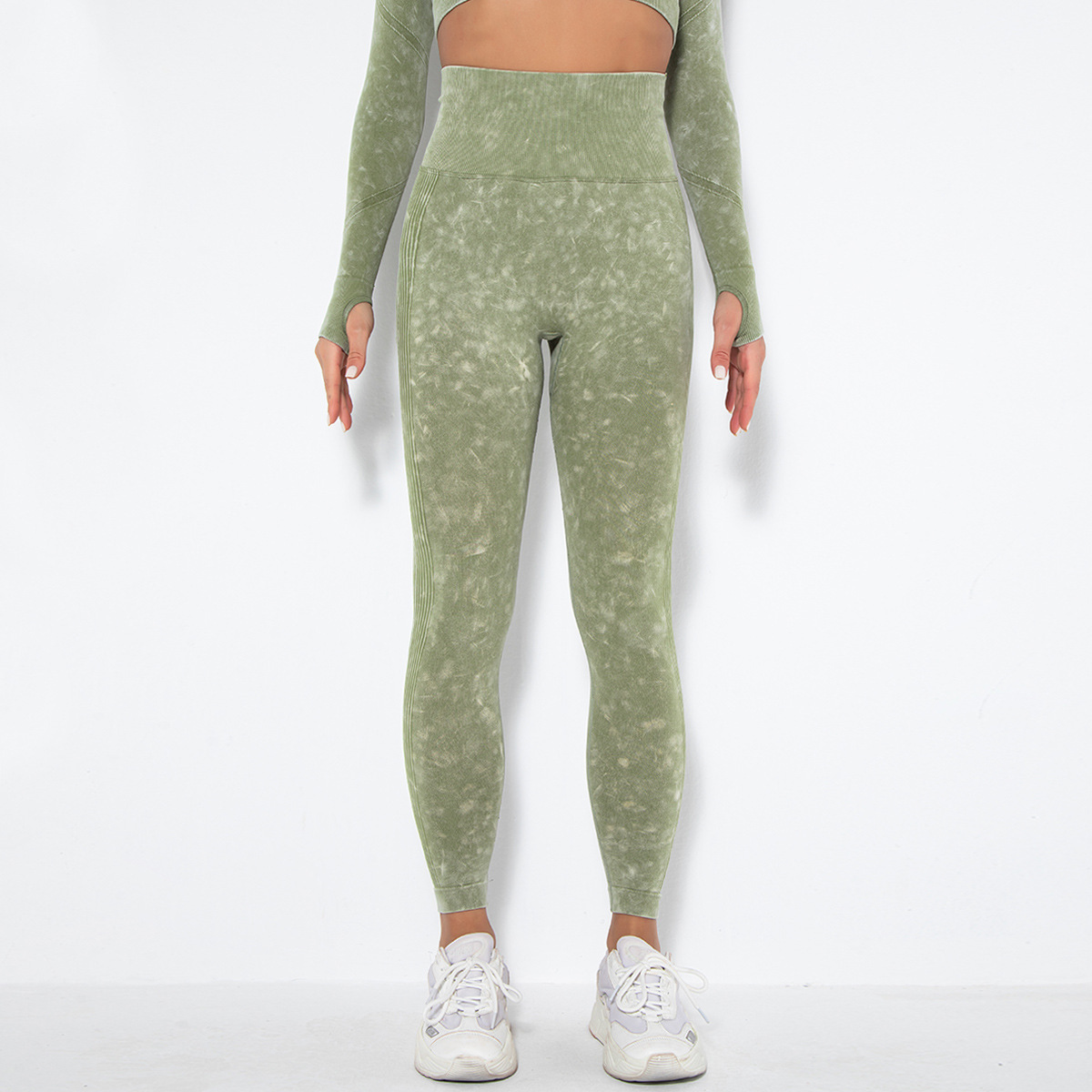 hot-selling seamless washed knitted sexy peach hip wicking yoga pants NSLX63096