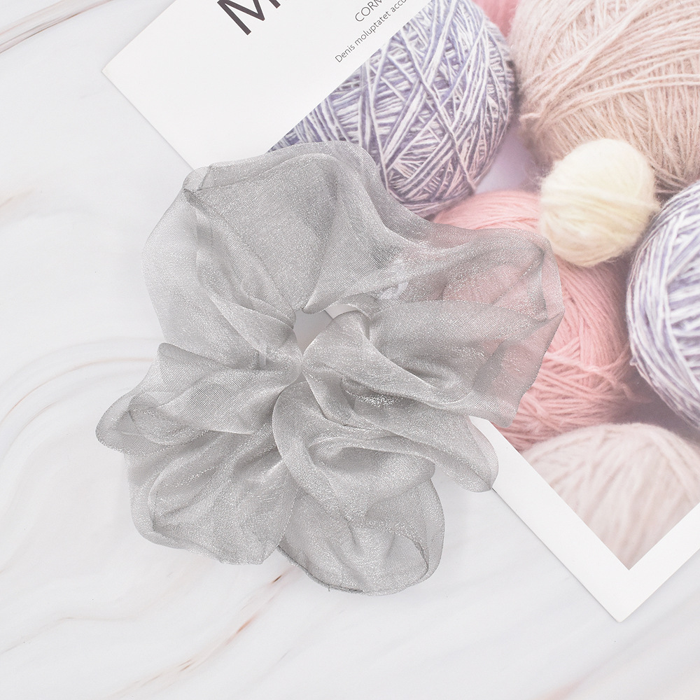Nihaojewelry solid color mesh elastic head scrunchies wholesale jewelry NHCL375117