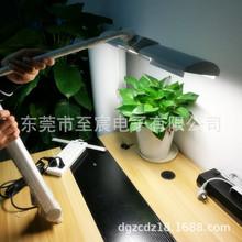 现货利华达技工台灯MT-213夹式配三基色荧光灯36W4000K中性黄光