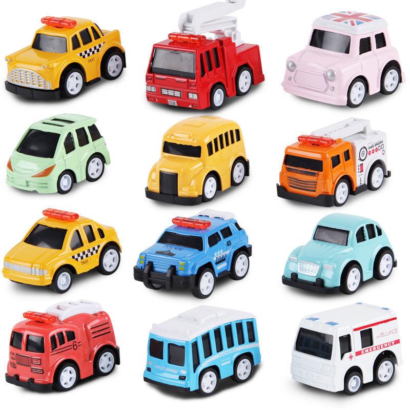 合金小汽车模型车仿真收藏摆件卡通玩具车男孩合金车模跑车