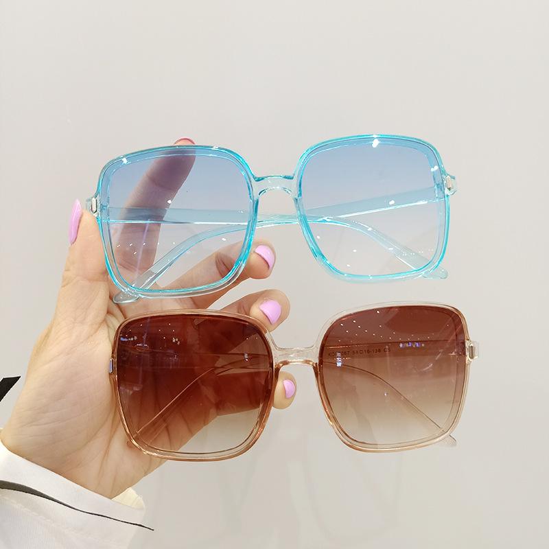 new fashion big frame korean geometric ultralight sunglasses NHBA353628