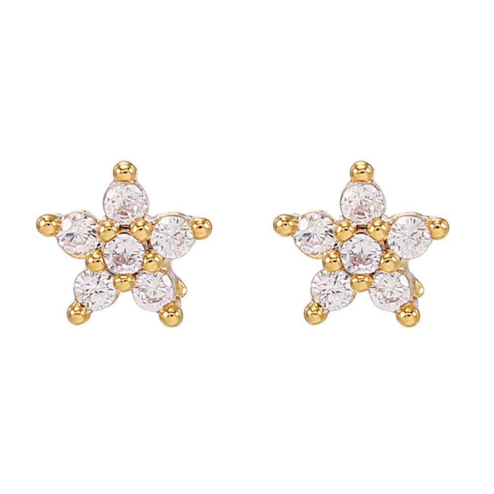 Wholesale Kolamic earrings 18K gold jewelry cute bear cloud earrings Nihaojewelry NHUW379102