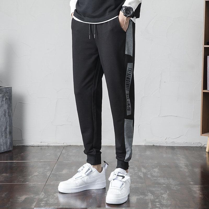 男士休闲裤2021春季新款青年休闲束脚九分男裤弹力裤子一件代发