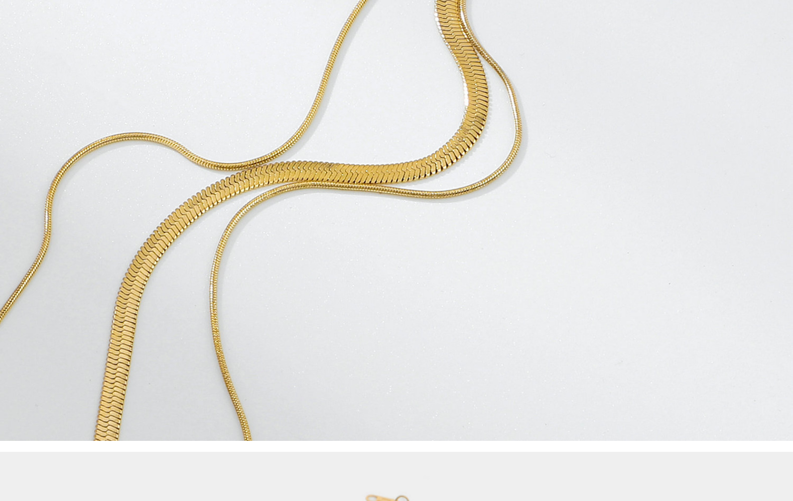 fashion threelayer 14K goldplated stainless steel necklace NHJIE359255