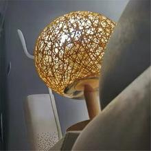 实木台灯宜家ins风 北欧简约现代卧室床头灯温馨麻球小夜灯日式