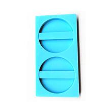 3335-3266 圓形心形吸管裝飾DIY水晶滴膠樹脂模硅膠模具