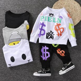 2021 новый осень ребенок спортивный набор мужчина девственницы ребенок хлопок с длинными рукавами ребенок осенняя одежда осенние брюки домой Одежда