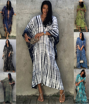 Beach dress for women swimsuit cover-up bikni out cotton robe Sun protection shirt loose pajamas home wear dresses