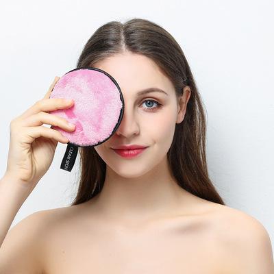 货源跨境Makeup Remover Pads超细纤维礼品卸妆垫女士卸妆巾logo定制批发