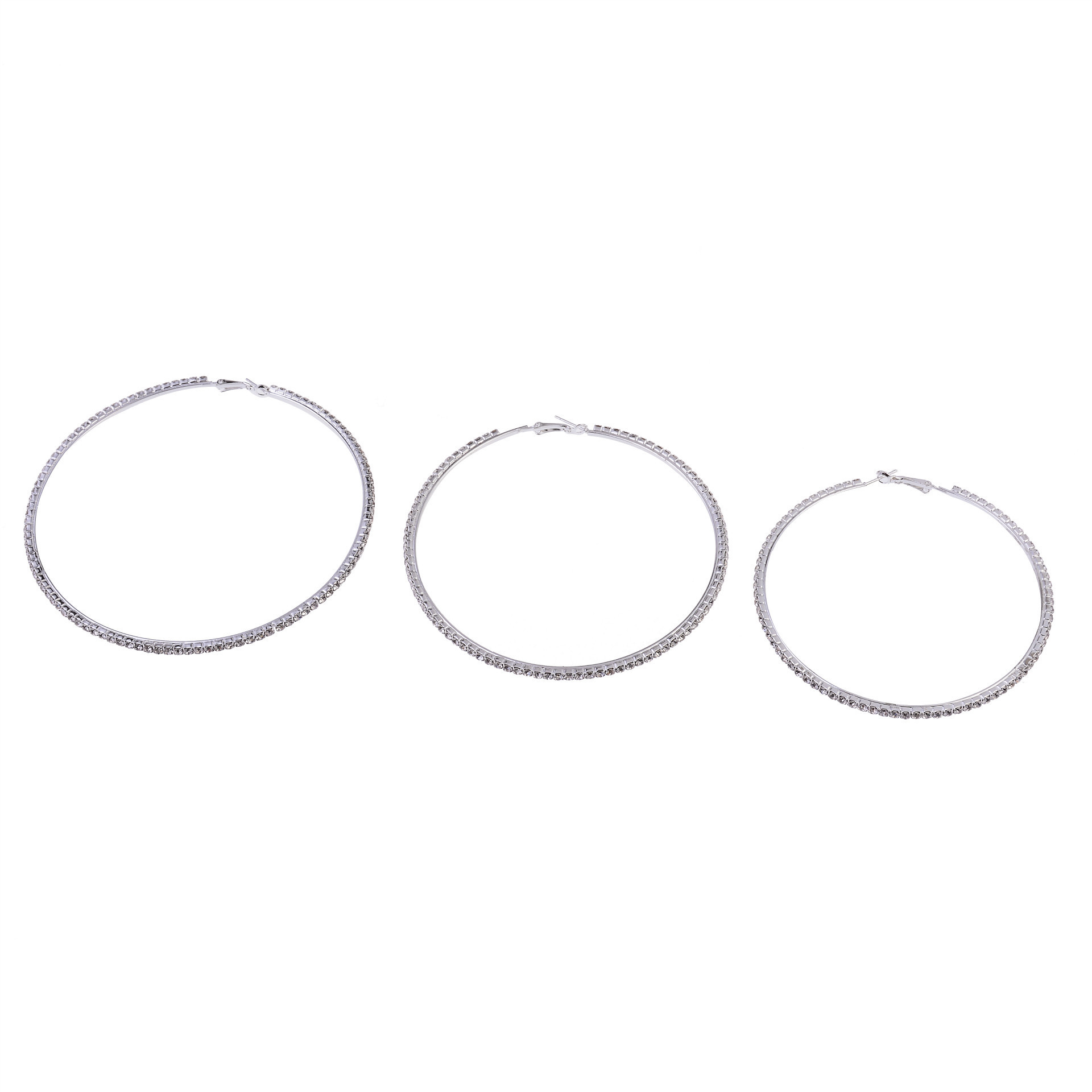 Fashion diamond circle alloy earrings wholesale NHYQ333147