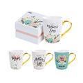 mothers day cups创意清新贴花陶瓷咖啡杯母亲节礼品咖啡杯套装