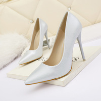 3088-3 han edition fashion pointed shallow mouth high-heeled shoes with women's shoes nightclub show thin and sexy fine professional OL for women's shoes