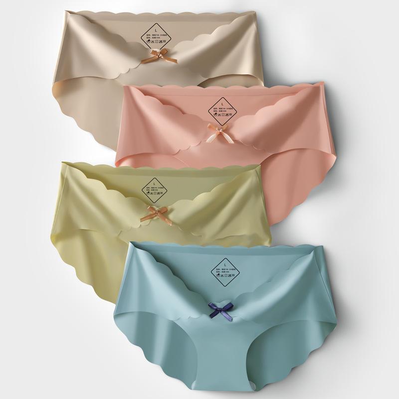 棉纯色夏季冰丝女士内裤女无痕孕初期晚中期抗菌低腰产后薄款内裤