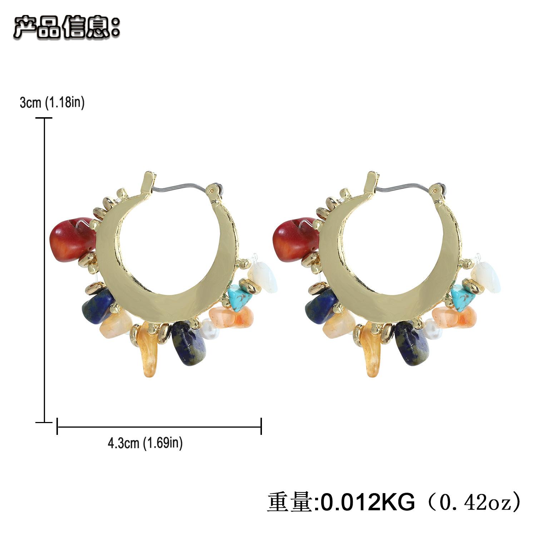 fashion creative geometric alloy handmade gravel earrings  NHJQ368581