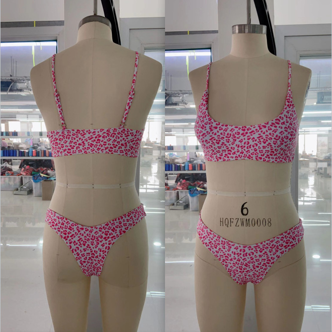 fashion printing threepiece bikini  NHHL335762