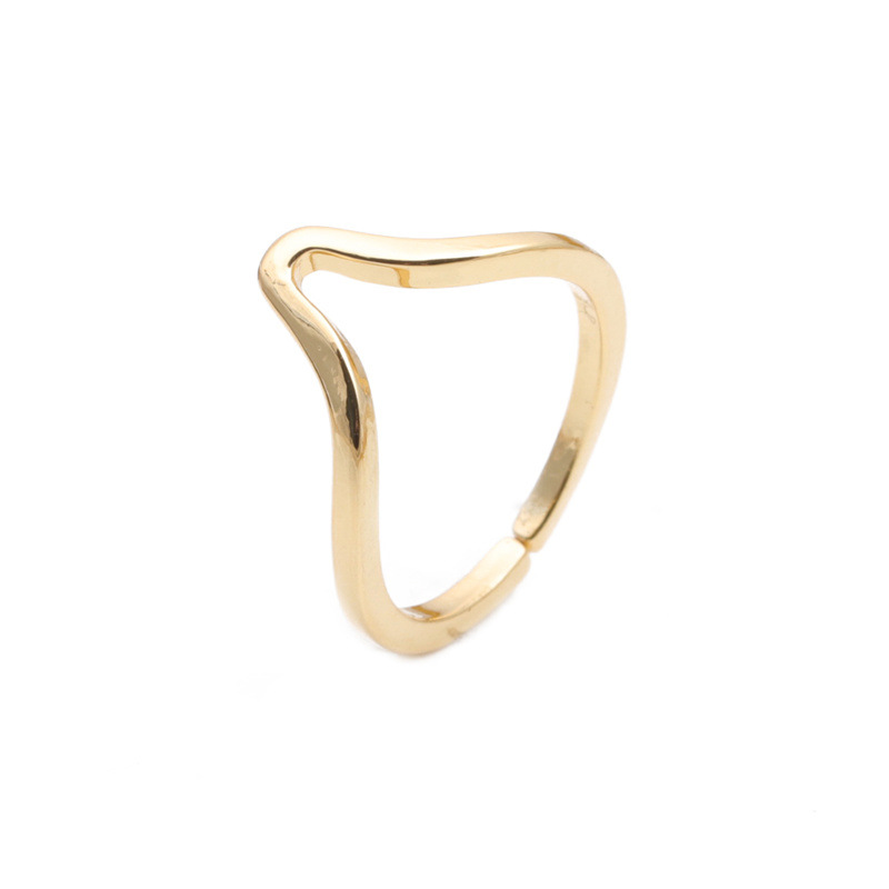 simple copper golden open ring NHYL333072