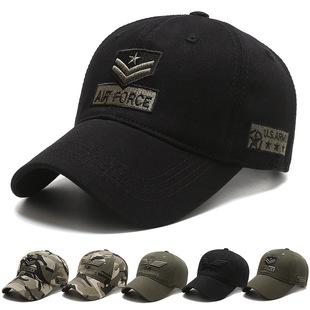 Hat men's trendy caps Korean casual caps spring and autumn outdoor sun hats camouflage military caps men's baseball caps