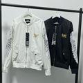 21韩版黑白两色上衣潮  圆领百搭boy外套 宽松气质嘻哈风棒球服潮