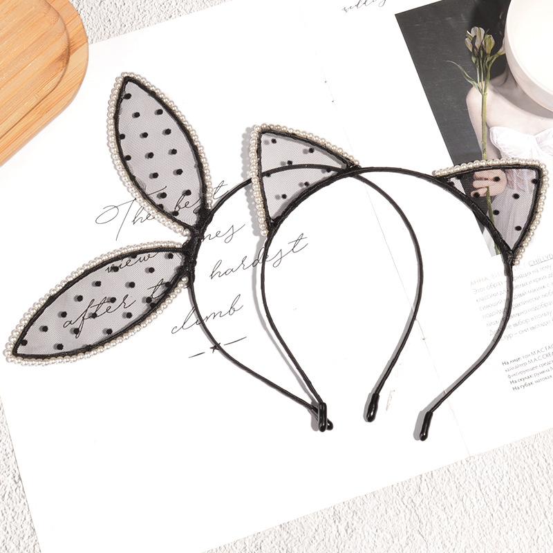 Lace rabbit ears headband  NHAQ304024