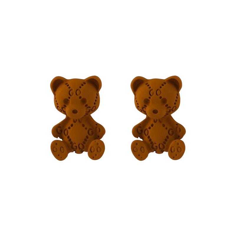 Korea Bear Resin Earrings Wholesale NHMS335906