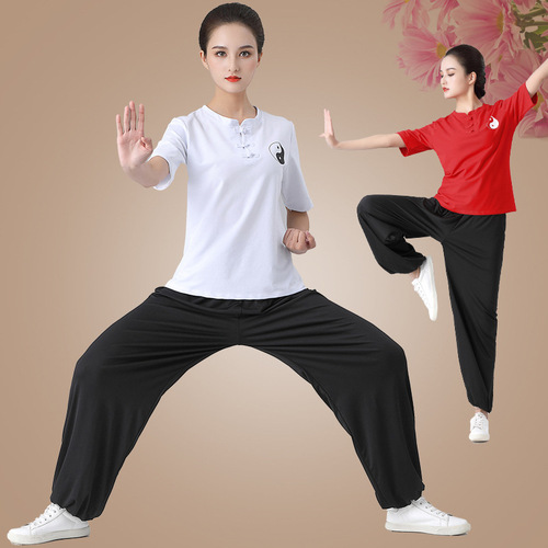 Tai Chi clothing chinese kungfu practice clothing female Chinese style martial arts uniforms male suit wushu performance suits