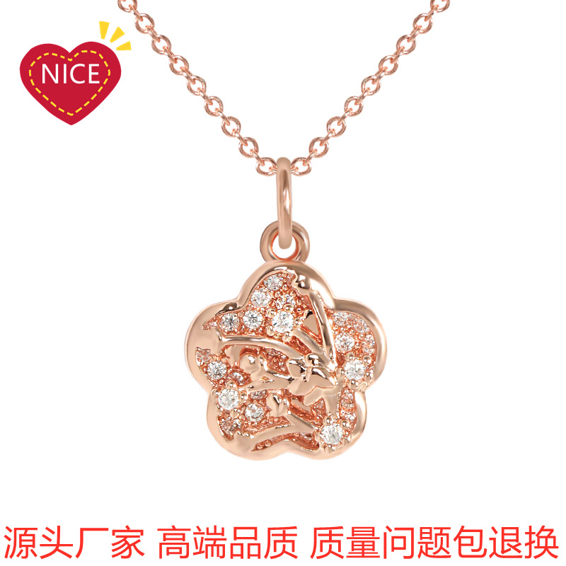 18k rose gold plated simple jewelry Kore...