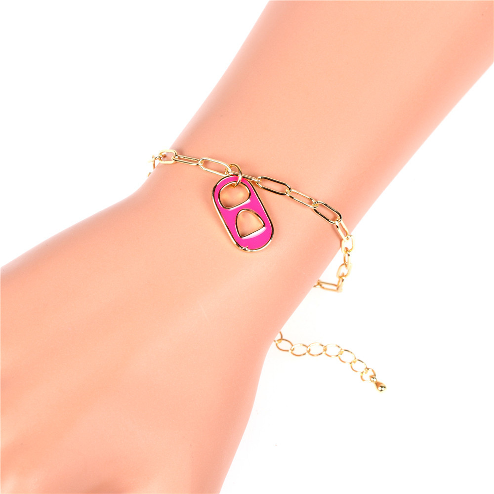 new dripping oil love pig nose bracelet  necklace set  NHPY316231
