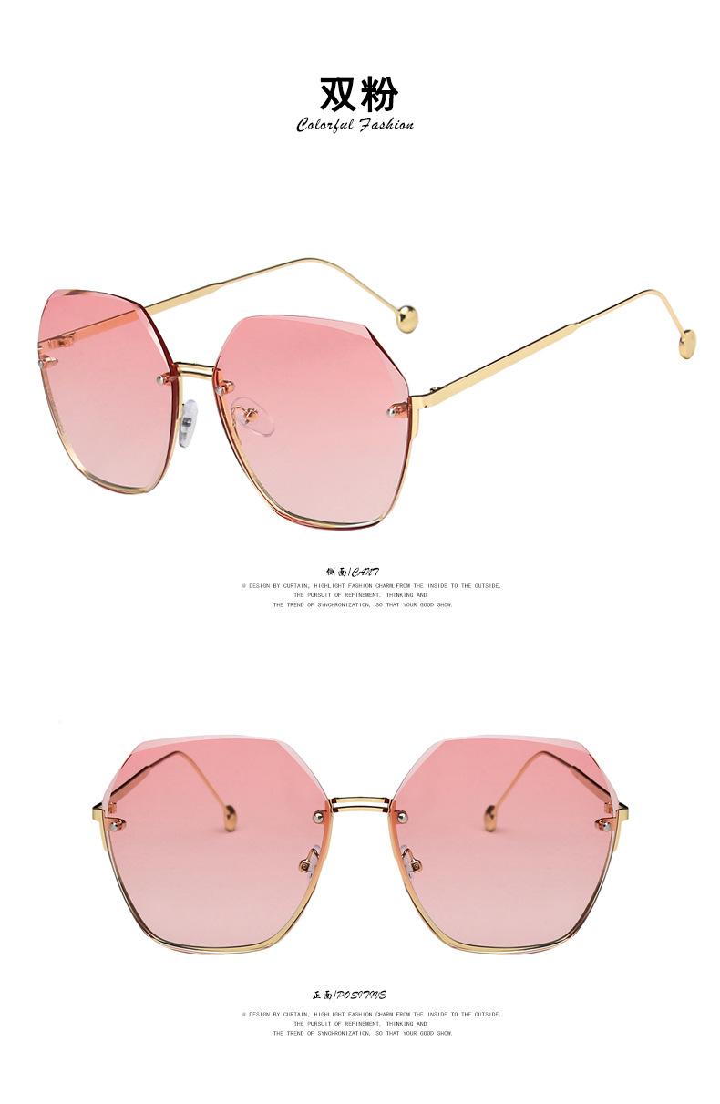 Fashion frameless UV protection sunglasses NHKD333378