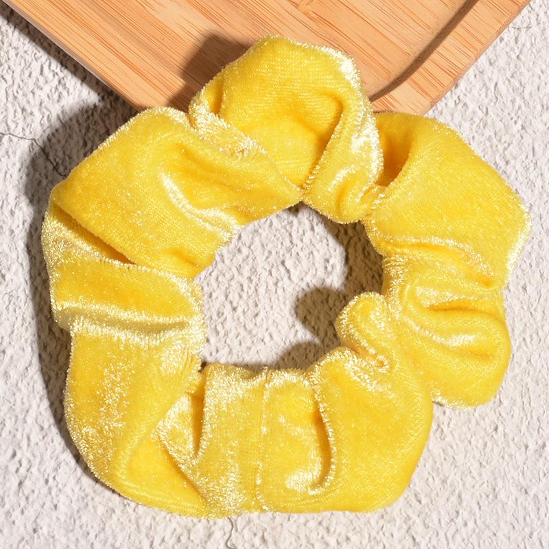 retro fashion candy color gold velvet hair ring  NHAQ355855