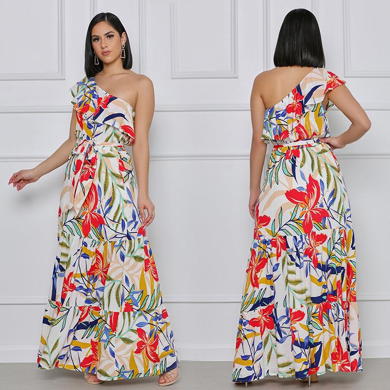 Bohemian long-sleeved floral dress wholesale clothing vendor Nihaostyles NSXHX68123