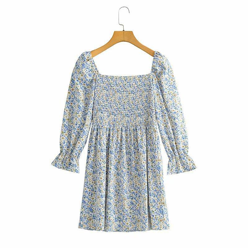 autumn women s square neck elastic slimming A-line dress nihaostyles wholesale clothing NSXPF79669