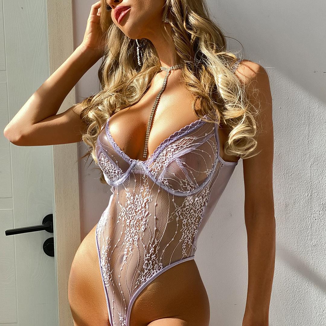 women's lace edge one-piece underwear nihaostyles clothing wholesale NSRBL78910