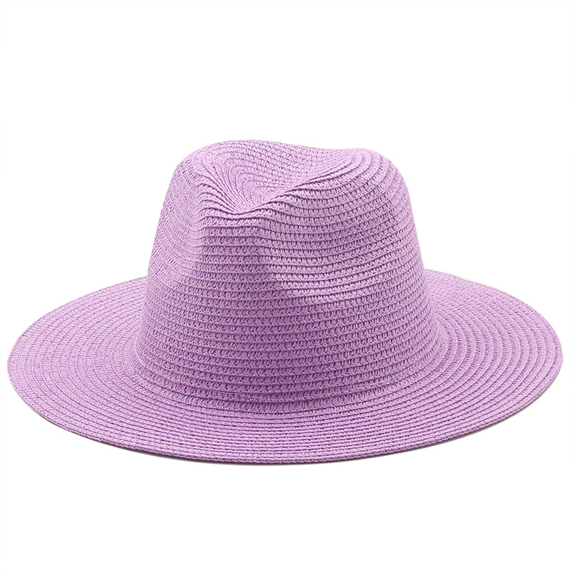 Korean style solid color woven big brim straw hat  NHXV366930