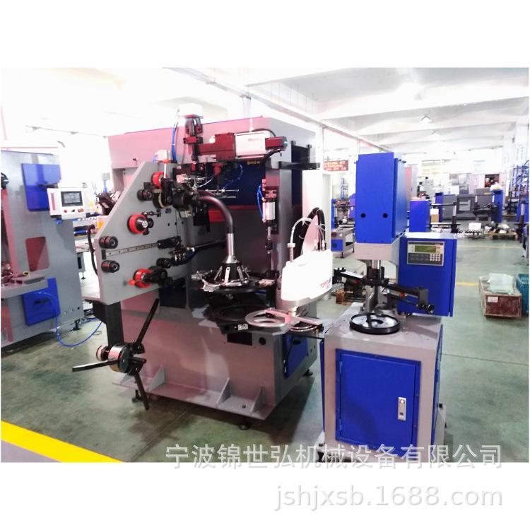 搪瓷锅不锈钢带激光焊机加自动卷边机自动化设备
