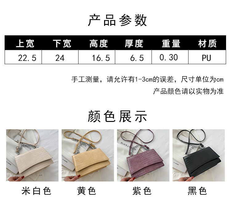 Fashion shoulder bag stereotyped messenger small square bag NHRU337434