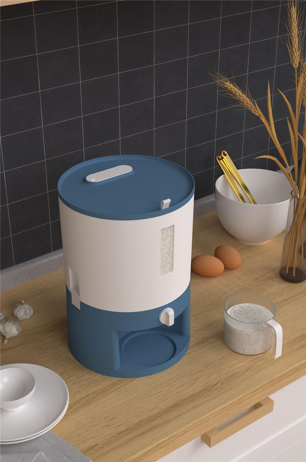 计量米桶防虫防潮家用20斤装米缸猫狗杂粮储存罐密封桶日式储米箱