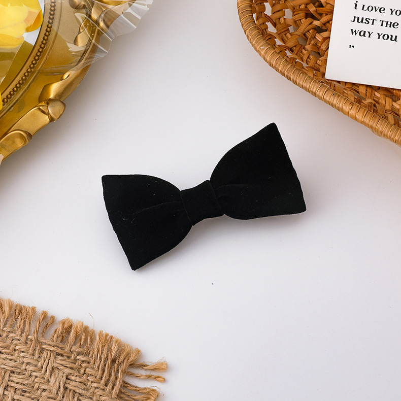 new simple red bow hairpin hair ring NHMS311783