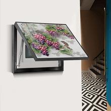 电表箱装饰画定制电闸开关遮挡背景墙壁画小清新水果花朵电箱壁画