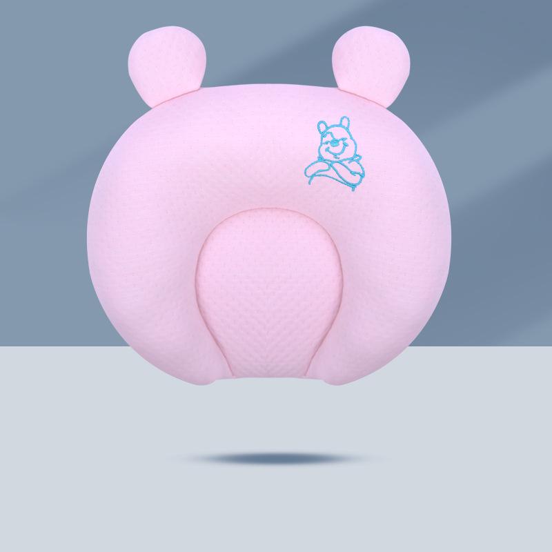 现货婴儿枕头防偏头乳胶枕头空气层纯棉宝宝定型枕可拆洗新生儿枕