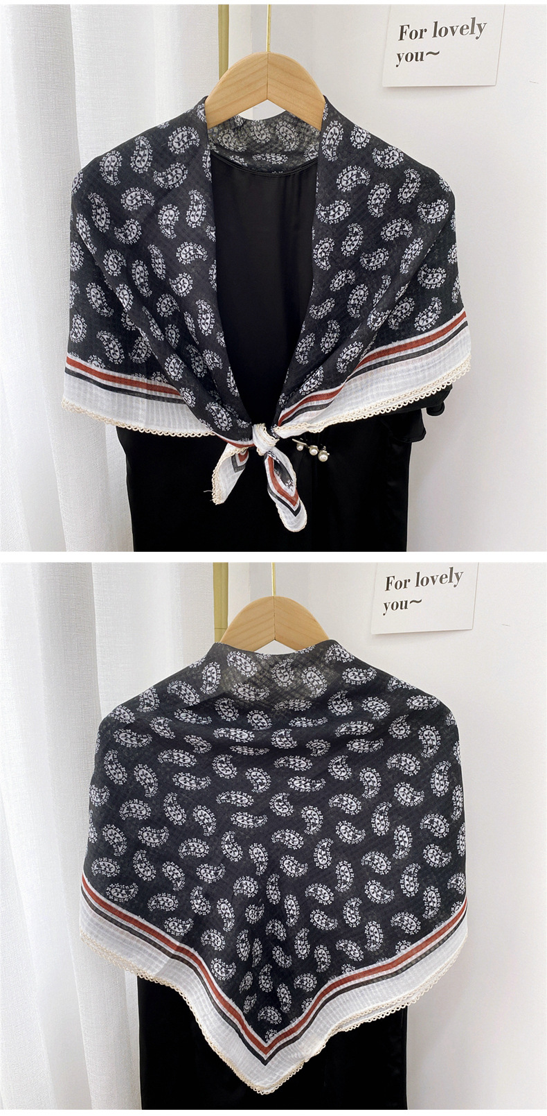 Nihaojewelry fashion cotton and linen square scarf scarf Wholesale Jewelry NHMN380404