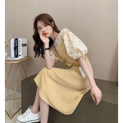 货源时尚套装女胖妹妹2020韩版宽松显瘦波点上衣+吊带连衣裙两件套潮批发