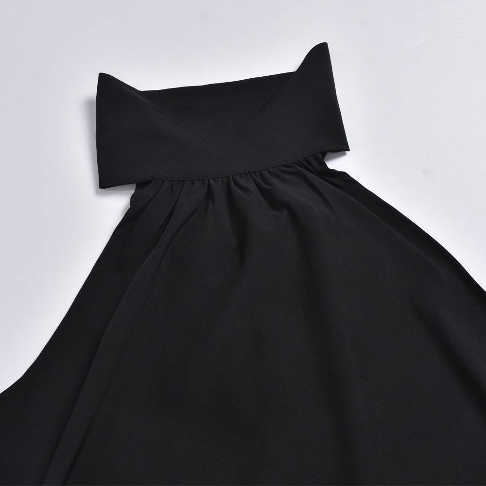 loose strapless stand-up collar halter sexy tops NSKL52509