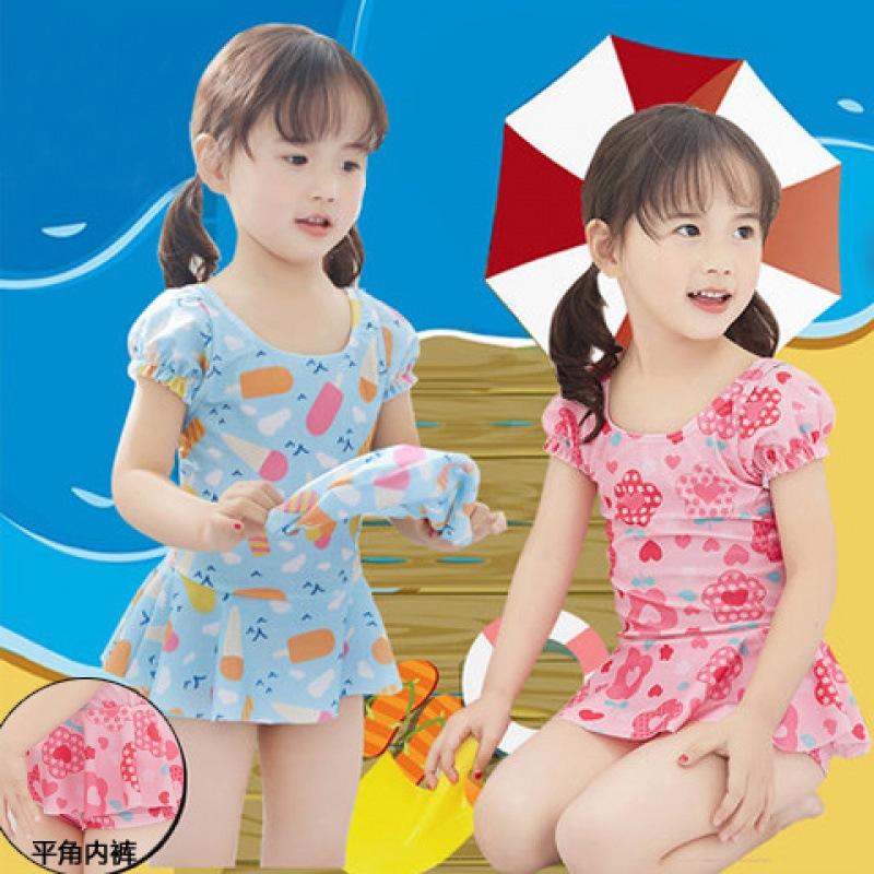 2019新款2女孩儿童泳衣3女童宝宝4婴幼儿5连体平角裤6游泳衣7岁穿
