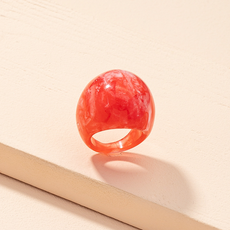 new exaggerated fashion candy color acrylic ring NHAI313632