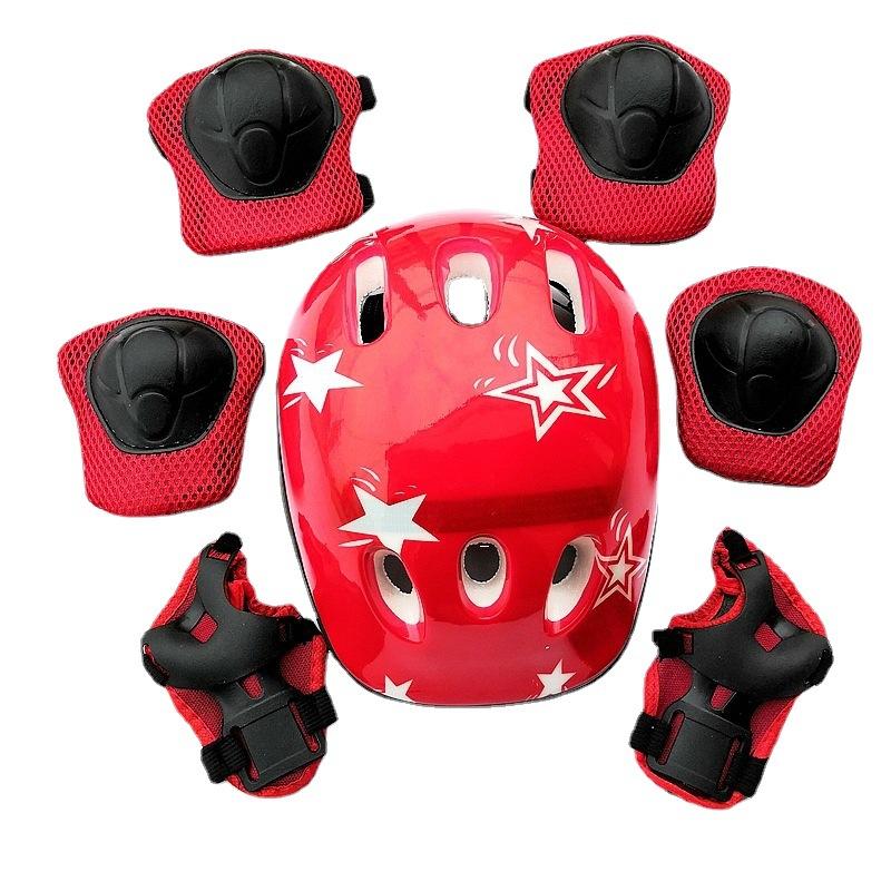 FIT434 Trẻ em Mũ bảo hiểm Trượt băng 7 cái Bộ Trượt ván Trẻ em Cân bằng Xe Dày Đầu gối Miếng lót Giày trượt băng Bộ đồ bảo hộ thumbnail