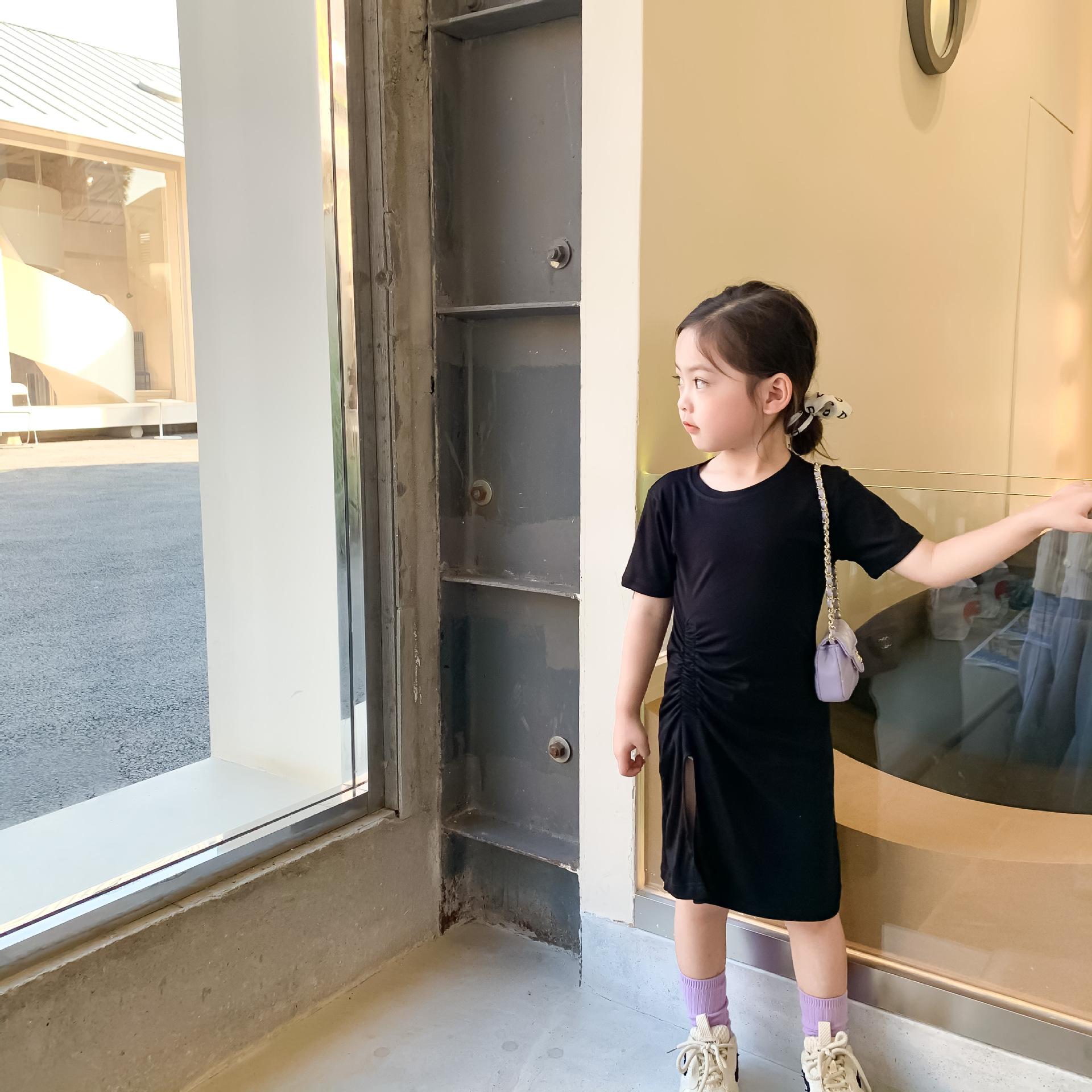 Đầm Xẻ Tà Cho Bé Gái - 56T170 - Thời Trang Kids đẹp 1